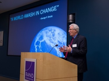 Richard Solomon speaking to the RAND Board of Trustees, November 2014