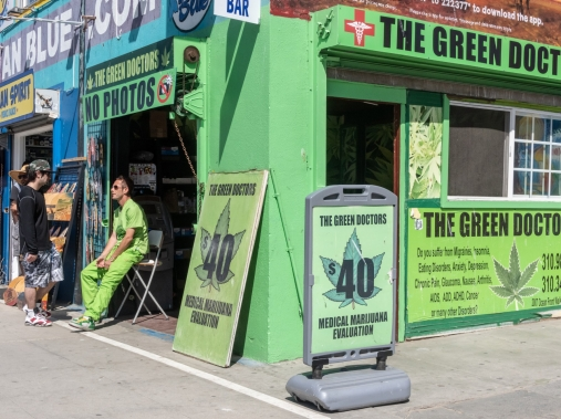 A medical marijuana dispensary in Venice Beach, California, July 16, 2014