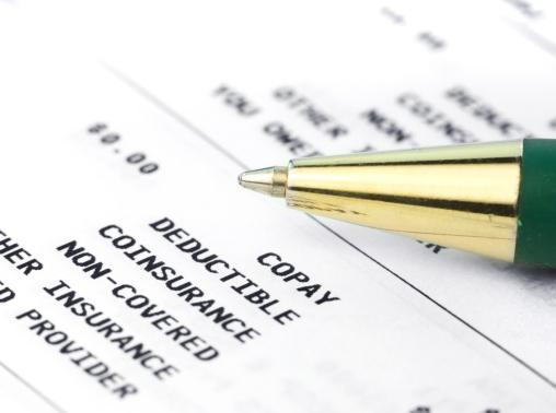Pen on Medical insurance statement