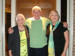Russell Shaver with sisters Ann Lloyd (L) and Sally Bauernfeind (R), photo courtesy of the Shaver family