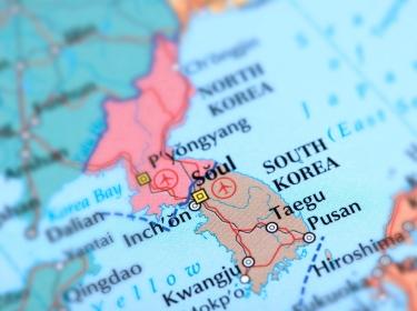 Map of the Korean Peninsula, photo by omersukrugoksu/Getty Images