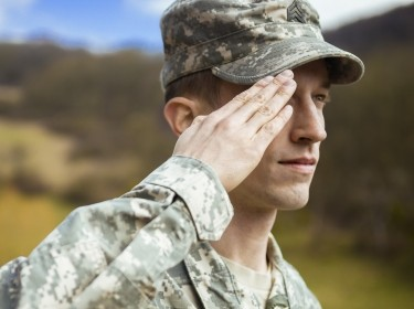 adult, america, american, armed, army, beret, camouflage, clothing, discipline, force, male, man, military, occupation, one, person, portrait, position, pride, salute, saluting, sergeant, service, serviceman, soldier, stand, standing, uniform, usa, work, hand