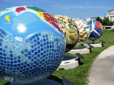 Globes on Chicago Museum Campus