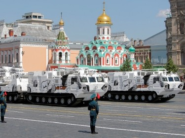 Russian Pantsir-SA missile and artillery weapon systems drive during the Victory Day Parade in Red Square in Moscow, Russia June 24, 2020, photo by Maxim Shemetov/Reuters