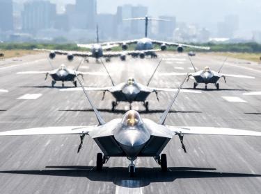 U.S. Air Force, Hawaii Air National Guard, INDOPACOM, TFI, Hawaiian Raptors, F-22, 199th FS, 19th FS, KC-135R Stratotanker, 203rd ARS, C-17 Globemaster III, 204th Airlift Squadron, 535th AS