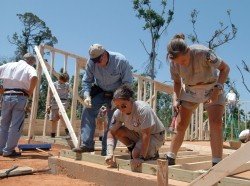 Gulf Coast recovery with Habitat for Humanity in Mississippi, April 27, 2006
