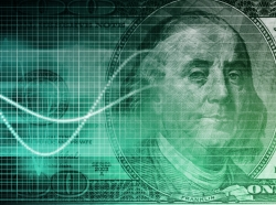 A dollar bill with a graph icon, photo by kentoh/Fotolia