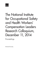 Cover: The National Institute for Occupational Safety and Health Workers' Compensation Leaders Research Colloquium, December 11, 2014