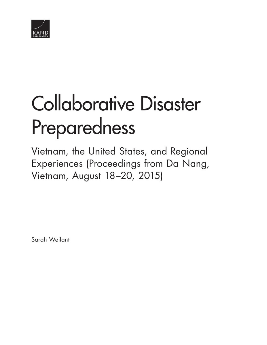 research paper on disaster preparedness