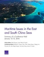 东中国海和南中国海之海洋争端: 2016年1月12~13日研讨会纪要 (内容摘要)