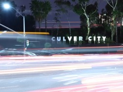 Culver City sign with lights at night, photo by albertc111/AdobeStock