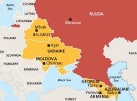 Map of Russia and Post-Soviet Europe