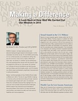 Cover: Making a Difference