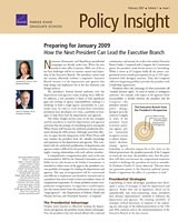 Cover: Policy Insight, Volume 1, Issue 1, February 2007