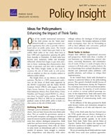 Cover: Policy Insight, Volume 1, Issue 2, April 2007