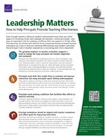 Cover: Leadership Matters