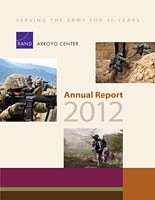Cover: RAND Arroyo Center Annual Report 2012