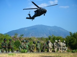 Garuda Shield 2014 Blackhawk familiarization training