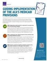 Cover: Guiding Implementation of the ACA's Medicaid Provisions
