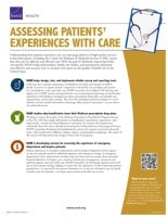 Cover: Assessing Patients' Experiences with Care