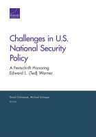 Cover: Challenges in U.S. National Security Policy