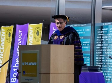 Michael Rich speaking at the 2016 Pardee RAND Commencement