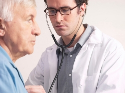 doctor with old patient