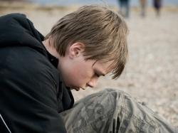 Boy with mental illness