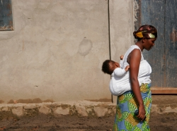African woman and child