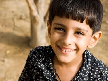 boy in rural India