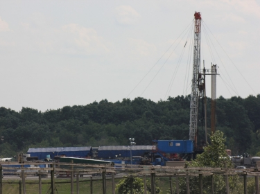 Marcellus Shale rig and gas well operation