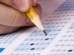 pencil filling test sheet