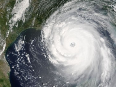 Hurricane Katrina satellite photo