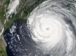 Hurricane Katrina satellite photo