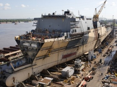 New Orleans Facility,Progress Photo,Anchorage,LPD 23,Forward Looking Aft