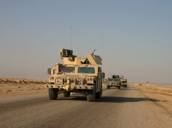 Humvees on patrol in Iraq