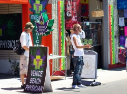 A medical marijuana store on Venice Beach