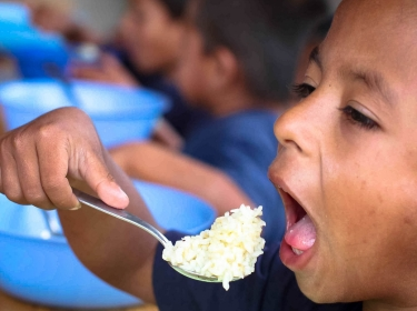 Honduran boys helped by Feed My Starving Children