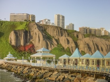 Commercial stores at the beach in Lima, Peru