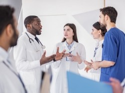 Physicians coordinating care with other staff members