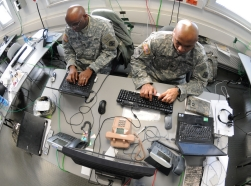 An exercise at the Joint Cyber Control Center