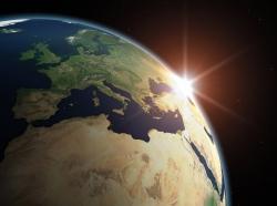 globe and sun