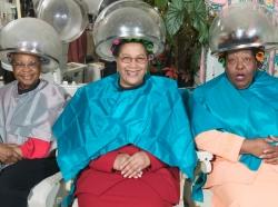 women in dryer chairs