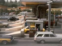 Cars go through Washington State toll booths