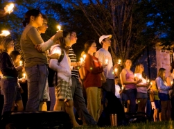 Candlelight vigil at Virginia Tech