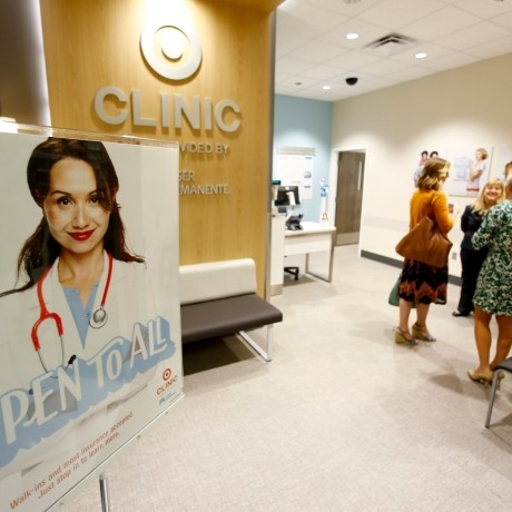 A Kaiser Permanente health clinic opens up inside a Target retail department store in San Diego, California November 17, 2014
