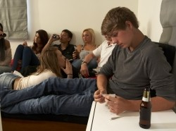 Teens drinking and smoking