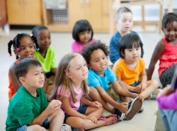 A group of children in kindergarten