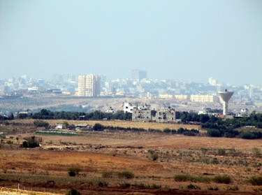 View of Gaza Strip from Israel - October 2009