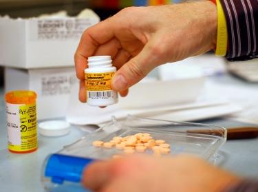 A pharmacist fills a Suboxone prescription at Boston Healthcare for the Homeless Program in Massachusetts, January 14, 2013